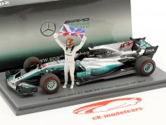Lewis Hamilton Mercedes F1 W08 EQ Power  #44 Mexican GP World Champion Formel 1 2017 1:43 Spark