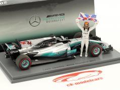Lewis Hamilton Mercedes F1 W08 EQ Power+ #44 Mexiko GP Weltmeister Formel 1 2017 1:43 Spark