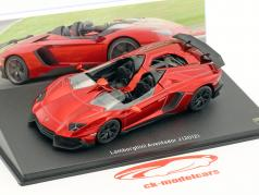 Lamborghini Aventador J year 2012 red metallic 1:43 Leo Models