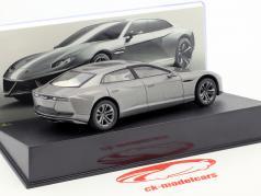 Lamborghini Estoque Baujahr 2008 silber 1:43 Leo Models