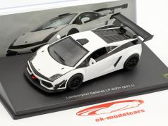 Lamborghini Gallardo LP 600+ year 2011 white / black 1:43 Leo Models