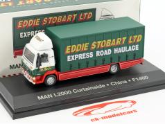 MAN L2000 Curtainside China F1460 Stobart green / white 1:76 Atlas