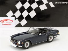 Triumph TR6 LHD year 1973 dark blue 1:18 Minichamps