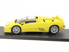 Lamborghini Diablo Roadster année de construction 2000 jaune 1:43 Leo Models