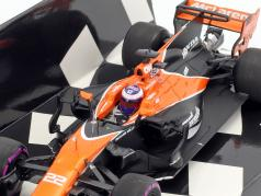 Jenson Button McLaren MCL32 #22 Monaco GP formule 1 2017 1:43 Minichamps