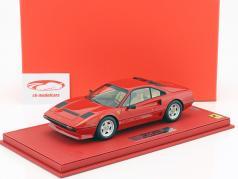 Ferrari 208 GTB Turbo year 1982 red with showcase 1:18 BBR