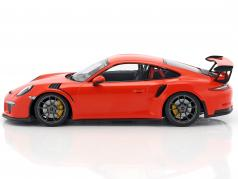 Porsche 911 (991) GT3 RS Baujahr 2015 lava orange 1:18 Minichamps