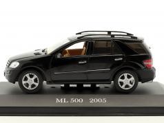 Mercedes-Benz ML 500 year 2005 black 1:43 Altaya