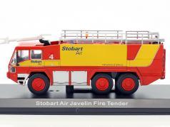 Air Javelin Fire Tender Stobart red / yellow 1:76 Atlas