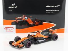 Fernando Alonso McLaren MCL32 #14 australien GP formule 1 2017 1:18 Spark