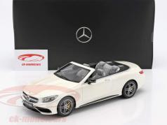 Mercedes-Benz AMG S 63 Cabriolet designo diamond white bright 1:18 GT-Spirit