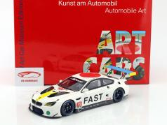 BMW M6 GTLM #19 Art Car John Baldessari con escaparate 1:18 Kyosho
