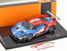 Ford GT #68 gagnant LMGTE Pro classe 24h LeMans 2016 Hand, Müller, Bourdais 1:43 Ixo