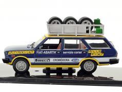 Fiat 131 Panorama Rallye Assistance Olio Fiat year 1975 blue / yellow / white 1:43 Ixo