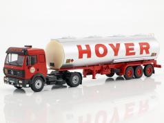 Mercedes-Benz SK 1844 petroliera Hoyer anno di costruzione 1994 rosso / argento 1:43 Ixo