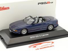 BMW 850 Ci Cabriolet blue metallic 1:43 Schuco