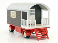 Güldner G75A tractor with trailer red / brown 1:32 Schuco