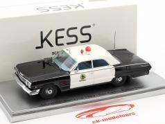 Chevrolet Biscayne San Carlos Police Dept. Baujahr 1963 schwarz / weiß 1:43 KESS