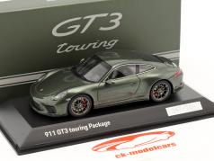 Porsche 911 (991 II) GT3 Touring Package oak green metallic 1:43 Spark