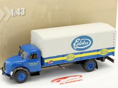 Magirus Deutz LKW Edeka blue / yellow / light gray in Blister 1:43 DeAgostini