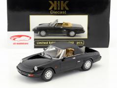 Alfa Romeo Spider 4 with removable softtop year 1990 black 1:18 KK-Scale