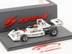 Gijs van Lennep Ensign N174 #31 olandese GP formula 1 1975 1:43 Spark
