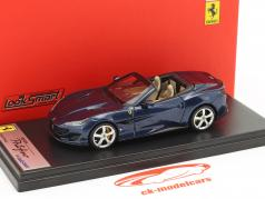 Ferrari Portofino Open Top Year 2017 blue metallic 1:43 LookSmart