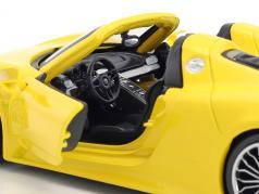 Porsche 918 Spyder gul 1:24 Bburago