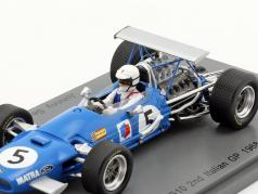 Johnny Servoz-Gavin Matra MS10 #5 2 ° italiano GP formula 1 1968 1:43 Spark