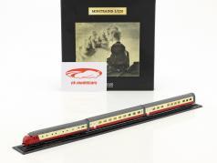 TEE EDELWEISS treno con pista rosso / bianco / argento 1:220 Atlas