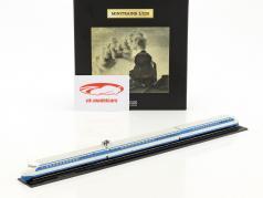 SHINKANSEN train with track blue / White 1:220 Atlas