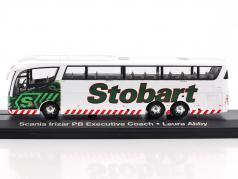Scania Irizar PB Executive Coach Laura Abby Stobart bianco / verde 1:76 Atlas