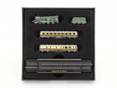 CORNISH RIVIERA train with track dark green / brown / white 1:220 Atlas