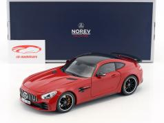 Mercedes-Benz AMG GT-R year 2017 red 1:18 Norev