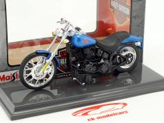 Harley-Davidson FXSTB Night Train year 2002 blue / black 1:18 Maisto
