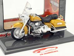 Harley-Davidson FLHR Road King année de construction 1999 or métallique 1:18 Maisto