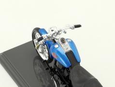 Harley-Davidson FXSTB Night Train Baujahr 2002 blau / schwarz 1:18 Maisto