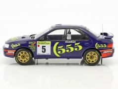 Subaru Impreza 555 #5 vencedor Rallye Monte Carlo 1995 Sainz, Moya 1:18 Solido