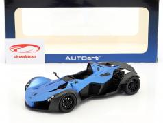 BAC Mono year 2011 blue metallic / black 1:18 AUTOart