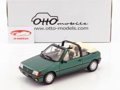 Peugeot 205 Cabriolet Roland Garros year 1989 green metallic 1:18 OttOmobile