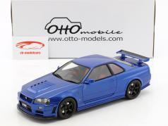 Nissan R34 GT-R Nismo Z-Tune year 2005 metallic pearl blue 1:18 OttOmobile