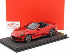 Ferrari Portofino Spider Version Rosso Fuoco year 2017 red 1:18 BBR