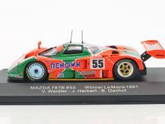 Mazda 787B #55 vencedor 24h LeMans 1991 Weidler, Herbert, Gachot 1:43 Ixo