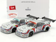 2-Car Set Porsche 911 Carrera RSR 2.1 #21 and #22 24h LeMans 1974 Martini Racing 1:18 Norev