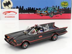 Batmobile mit biegbaren Figuren Batman und Robin Classic TV Serie Batman (1966) 1:24 NJCroce