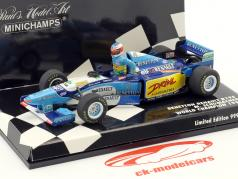 Set figure Michael Schumacher   Benetton B195 #1 champion du monde Formel 1 1995 1:43 Minichamps