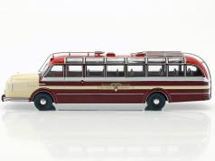 Krupp Titan 080 bus year 1951 dark red / beige 1:43 Ixo