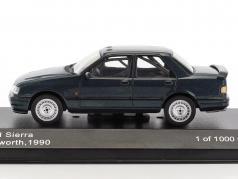 Ford Sierra Cosworth ano de construção 1990 azul escuro metálico 1:43 WhiteBox