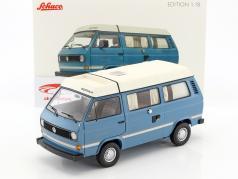 Volkswagen VW T3a Joker camper con tetto piegamento blu medio / bianco 1:18 Schuco