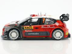 Citroen C3 WRC #7 Winner Rally Spain 2017 Meeke, Nagle 1:18 Norev